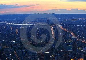 Taipei.Panoramic City Skyline At Sunset Stock Images - Image: 16586064