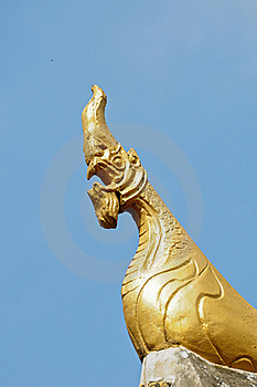 Naga Sculpture,Thai Style Stock Images - Image: 16586614