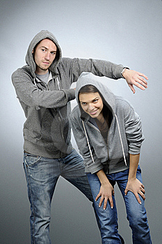Dancing Teens Practicing Royalty Free Stock Image - Image: 16588226