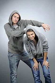 Dancing Teens Practicing Royalty Free Stock Image - Image: 16588226