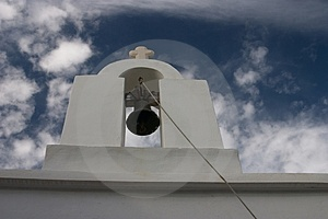 Paros, Greece, Church, Belltower With Bells Royalty Free Stock Image - Image: 1662176
