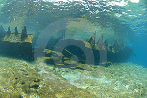 The Remains Of The Lara Shipwreck Stock Image - Image: 16601781