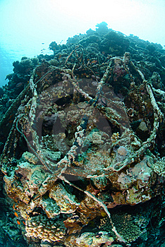 Wreckage From A The Lara Shipwreck Stock Photos - Image: 16601873