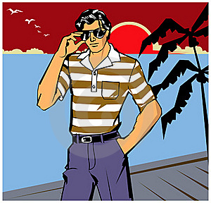 Youth Sea Man Royalty Free Stock Image - Image: 16602616