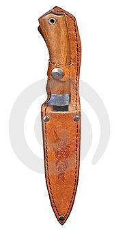 Single Knife In Sheath Royalty Free Stock Photo - Image: 16606395