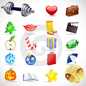 Vector Gift Icons. Royalty Free Stock Image - Image: 16607626