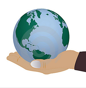 Globe In Hand Of The Person Stock Photo - Image: 16607720