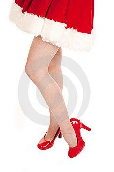 Mrs Santa Bare Legs Stock Images - Image: 16612964