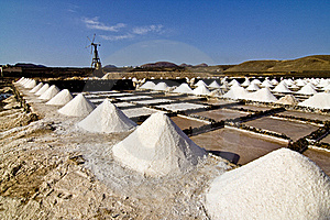 Salt Piles On A Saline Exploration Stock Photos - Image: 16613243