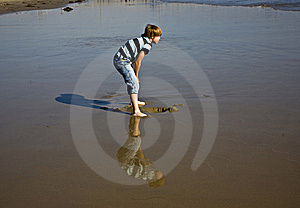 Boy At The Beach In Venice Royalty Free Stock Photography - Image: 16613577