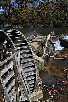 Old Mill Paddle Wheel Stock Images - Image: 16616254