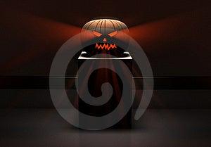 Halloween Pumpkin In Museum Hall Stock Photos - Image: 16618563