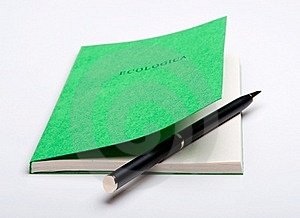 Ballpoint Pen Inside The Book Stock Photo - Image: 16621590