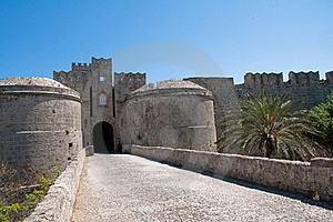 Wall In Rhodes Island Stock Image - Image: 16621641