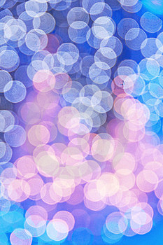 Blue Christmas Trees Bokeh Stock Images - Image: 16629174