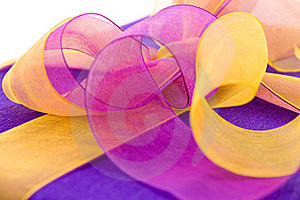 Violet Gift Box With   Ribbon Bow Stock Image - Image: 16631191