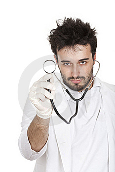 Doctor Holding A Stetoscope Royalty Free Stock Image - Image: 16633676