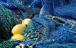 Blue Fishing Nets Stock Images - Image: 16634284