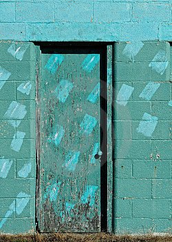 Turquoise Door Stock Photo - Image: 16635530