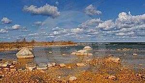 Rocky Shoreline Of Lake Michigan Royalty Free Stock Photo - Image: 16635605