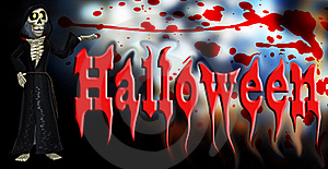Halloween Cartoon Skeleton Royalty Free Stock Image - Image: 16635886