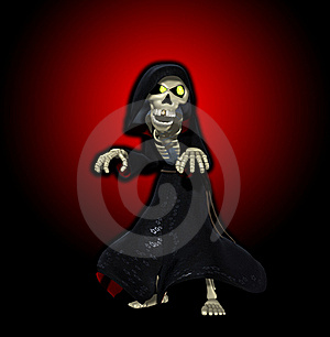 The Cartoon Grim Reaper Royalty Free Stock Images - Image: 16636009