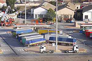 Trucks And Trailers Royalty Free Stock Photos - Image: 16636518