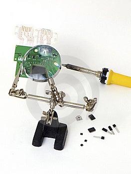 Examine Computer Pcb Stock Image - Image: 16637731