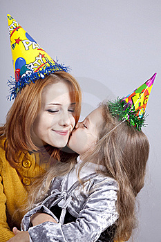 Sisters Four And Eighteen Years Old At Birthday. Stock Image - Image: 16638141