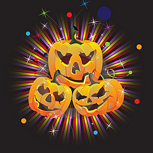 Laughing Jack O Lanterns Royalty Free Stock Photos - Image: 16638248