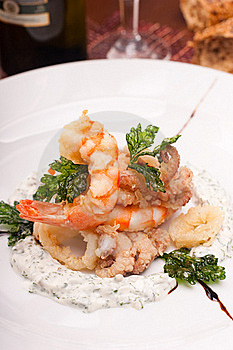 Delicatessen Dish With Seafoods Royalty Free Stock Photography - Image: 16638467
