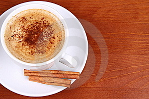 Cup Of Coffee With Cinnamon Stock Photography - Image: 16640252