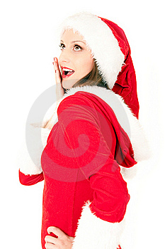 Beautiful Santa Girl Stock Images - Image: 16640624