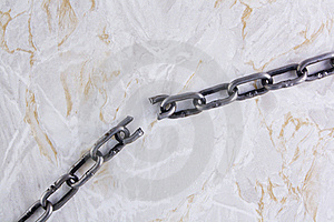 Broken Chain Over Marble Texture Stock Images - Image: 16641094