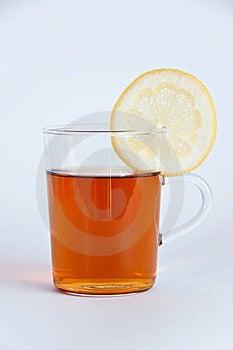 Glass Of Hot Black Tea With Lemon Stock Photo - Image: 16641490