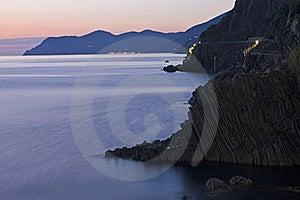 Línea De La Playa De Cinque Terre Imagen de archivo libre de regalías - Imagen: 16641886