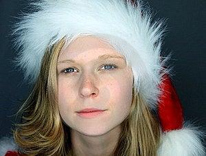 Moody Image Of Miss Santa Stock Photography - Image: 16642082