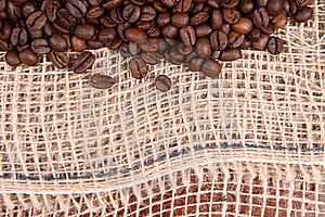 Burlap Material And Coffee Royalty Free Stock Photography - Image: 16642087