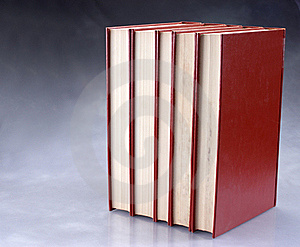Set Of Red Books Stock Photo - Image: 16642670