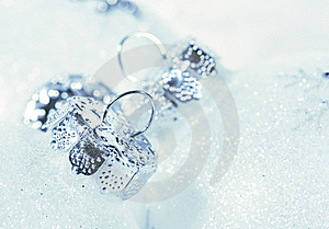 Frosted Decorations For Christmas Royalty Free Stock Photo - Image: 16643875
