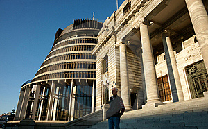 Tourist Looks Over City From Parliament Buildings. Stock Photo - Image: 16646160