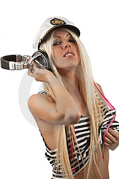 Portrait Of Sexy Girl Listening A Headphone Stock Photography - Image: 16647722