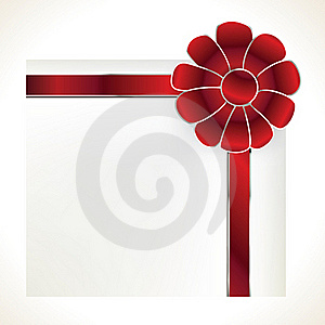 Card With Bow Stock Images - Image: 16648884