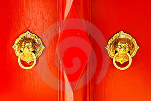Chinese Door Handle Knocker Royalty Free Stock Image - Image: 16650256