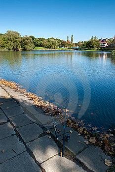 Fishing Rod On The Lake Side Royalty Free Stock Image - Image: 16654376