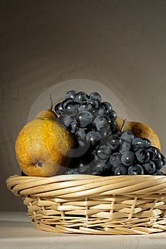 Fresh Tasty Fruit In The Bast Basket Royalty Free Stock Photo - Image: 16664615
