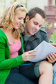 A Couple Of Students Studying Stock Photo - Image: 16669770