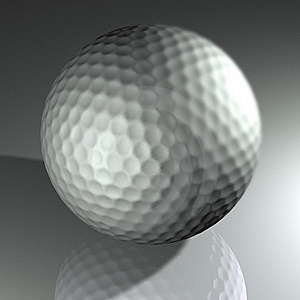 Silver Golf Ball Stock Image - Image: 16670781