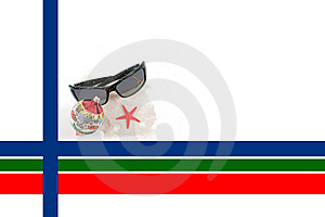 Caribbean Christmas Border With Sunglasses Stock Photography - Image: 16672582