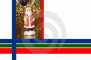 Christmas Border With Saint Nicholas Royalty Free Stock Images - Image: 16672609
